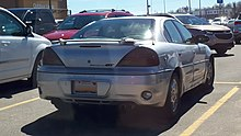 2003 - 2005 Pontiac Grand Am photographed in Sault Ste. Marie, Michigan, USA