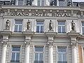 Grand Hotel Royal. Four Seasons Statues (1896). - 43-49 Erzsébet Boulevard, Budapest.JPG