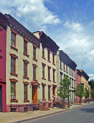 Central Troy Historic District - Grand Street rowhouses built in wake of 1862 fire