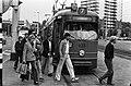 Gratis openbaar vervoer in Rotterdam, omdat bestuurders en chauffeurs meer loon met behoud van 6% onregelmatigheidstoeslag willen, Bestanddeelnr 931-5021.jpg