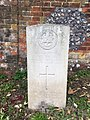 Gravestone of Private John Bentley of the Northamptonshire Regiment at Amersham Consecrated Cemetery, September 2020.jpg