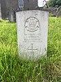 Gravestone of Private John Roberts at Groeswen Welsh Congregational Chapelyard, July 2020.jpg