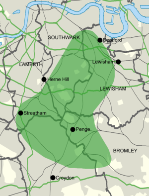 Great North Wood - Approximate historical area of the Great North Wood