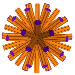 Great disnub dirhombidodecahedron - The great disnub dirhombidodecacron