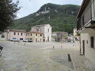 Greccio - Main piazza in Greccio, Italy