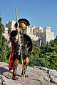 Greek hoplite reenactor on the Areopagus, 24 October 2018.jpg