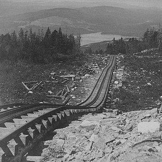 Acadia National Park - The Green Mountain Cog Railway ran from Eagle Lake to Cadillac Mountain's summit from 1888–1890