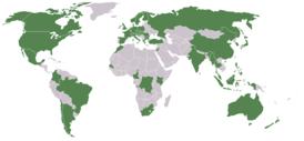 1e17ad8337 Países en los que existen oficinas nacionales de la organización Greenpeace.