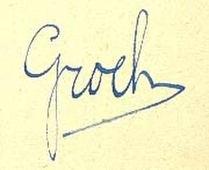 Grock - Signature of Grock