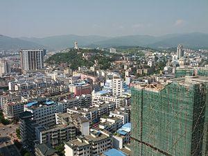 Guangyuan - Image: Guangyuan skyline