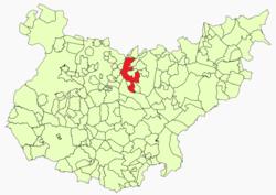 Vị trí của Guareña