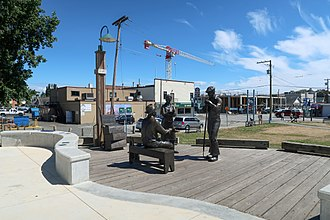Gulf of Georgia Cannery - Fisherman's Park sculpture in 2018