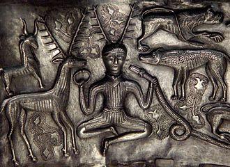 """Christianisation of Scotland - The """"Cernunnos"""" type antlered figure on the Gundestrup Cauldron found in Denmark"""