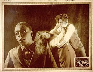 The Gunsaulus Mystery - Lobby card with scene from the film.
