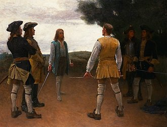 Caroleans - Duels in the Carolean army was strictly forbidden, however, not unusual – Gustaf Cederström.