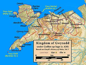 Cadfan ap Iago - Image: Gwynedd.620