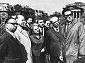 Hősök tere, a bal szélen Kállai Gyula a minisztertanács elnökhelyettese, mellette Walter Ulbricht az NDK államfője. Fortepan 74523.jpg