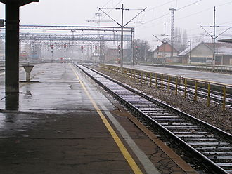 Murder on the Orient Express - The railway station passenger terminal in Vinkovci, Croatia
