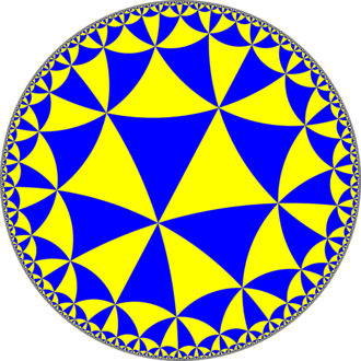 Order-8 triangular tiling - Image: H2 tiling 334 4