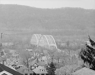 Coraopolis Bridge - Overall view from Coraopolis side