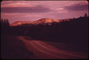 Hills and forests of the Northern Cheyenne Reservation