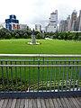 HK 香港 Dr Sun Yat-Sen Memorial Park 中山紀念公園 statue 孫中山像 green grass n fence June 2016 DSC.jpg