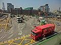 HK Hung Hom Railway Station Bus Terminus 紅磡鐵路巴士站 n HKPolyU view from The Metropolis March-2013.JPG