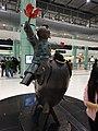 HK Lok Ma Chau MTR Station 落馬洲站 Bauhinia Rider sculpture Chinese Scuptor 蔣朔 Jiang Shuo Bronze statue March 2016 Concourse Level 3 DSC (6).JPG