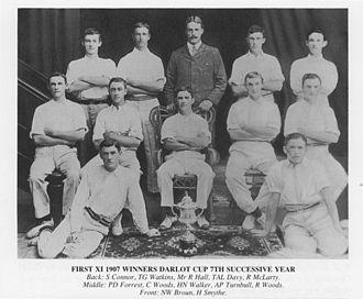 First XI - Hale School First XI (plus schoolmaster) in 1907