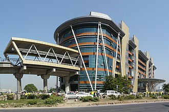 Metro station - HUDA City Centre Metro Station is a terminal station in Gurugram, India that provides parking and disability facilities and is located near multiple colleges and universities.