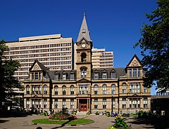 A photo of Halifax City Hall as seen from Grand Parade.