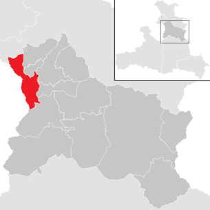Location of the municipality of Hallein in the Hallein district (clickable map)