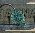 Hannay Memorial with DAR hanging logo - Glenwood Cemetery - 2014-09-14.jpg