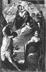 Maria mit Kind und den hll. Sebastian und Katharina (zugeschrieben)