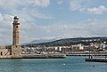 Harbour snowy mountains Rethymno Crete Greece.jpg