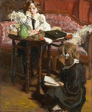 Harrington Mann - Lesson Time (1908)