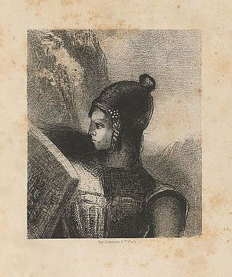 Der Ring des Nibelungen - Illustration of Brünnhilde by Odilon Redon, 1885