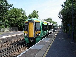 Brighton main line Railway line between London and Brighton