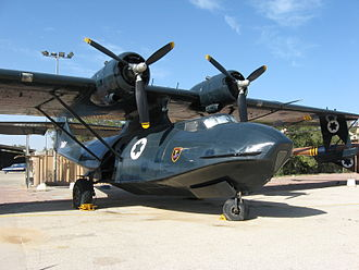 69 Squadron (Israel) - PBY Catalina at the Israeli Air Force Museum in Hatzerim. The aircraft bears the B-17-era squadron badge