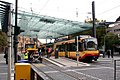 Heilbronn- Karlsruhe Stadtbahn car in Hauptbahnhof Vorplatz - geo.hlipp.de - 14196.jpg