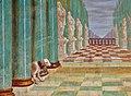Heiligkreuzkirche Säben Wandfresko grün Detail Hund.jpg