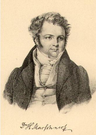 Heinrich Marschner - Heinrich Marschner, lithograph after a drawing by F. A. Jung, c. 1830