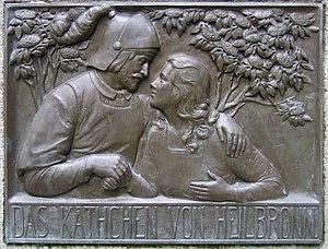 Das Käthchen von Heilbronn - Käthchen and the Count of Strahl on the Heinrich von Kleist Memorial in Frankfurt (Oder)