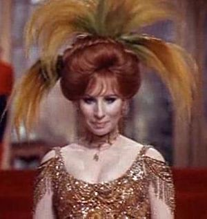 Screenshot of Barbra Streisand from the traile...