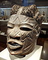 Helmet mask, Mozambique, Makonde people, early 20th century, wood, beeswax, hair - De Young Museum - DSC01108.JPG