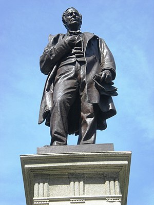 Thomas A. Hendricks Monument - Image: Hendricks Sculpture