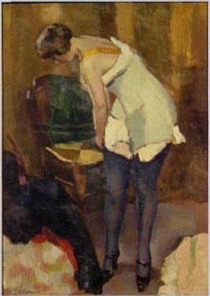 Henri Ottmann - Image: Henri Ottmann, 'Woman With Blue Stockings',1917