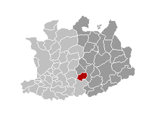 Location of Herenthout in the province of Antwerp