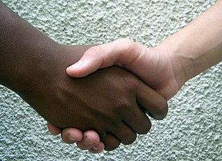 Handshake Short human greeting or parting ritual