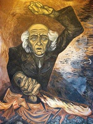 José Clemente Orozco - A painting of Miguel Hidalgo y Costilla, Jalisco Governmental Palace, Guadalajara.